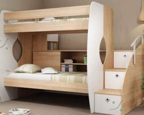 تختخواب چوبی دو طبقه