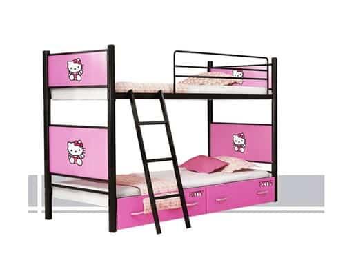 تختخواب فلزی دو طبقه
