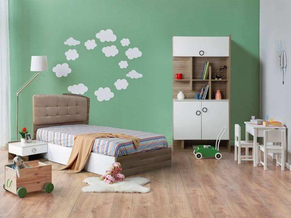 تخت و کتابخانه نوجوان مدل نریمان 4