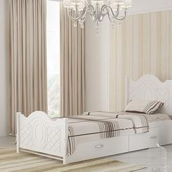 تختخواب تکنفره سفید